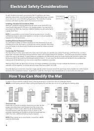 warmup sticky mat installation manual