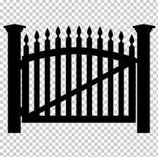 Picket Fence Gate Png Clipart Black And White Fence Fotolia Garden Gate Free Png Download