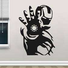 Waliicorners Avengers Superhero Iron Man Wall Sticker Vinyl Home Decor Kids Room Boy Bedroom Decals Marvel Comic Murals Removable Poster D545 Waliicorner S Store