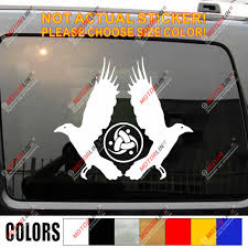 Huginn And Muninn Twin Ravens Knot Decal Sticker Car Vinyl Norse Odin B Car Stickers Aliexpress