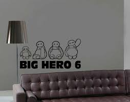 Big Hero Wall Decal Disney Baymax Sticker For Door Etsy