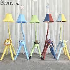 Modern Cartoon Animal Floor Lamp For Children S Kids Room Bedroom Fabric Lamp Shades Stand Led Standing Light Fixture Home Decor Floor Lamps Aliexpress