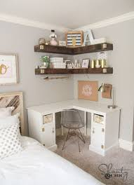 Diy Corner Desk Diy Corner Desk College Apartment Decor White Corner Desk
