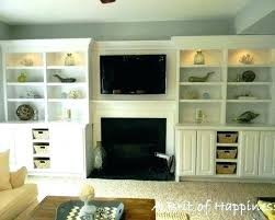 built in bookcase around fireplace