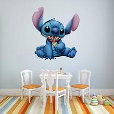 Amazon Com Lilo And Stitch Wall Decal Stitch Wall Decals With 5d Augmented Reality Interaction Lilo Stitch Bedroom Decor Home Kitchen