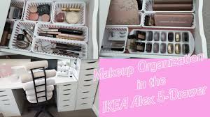 organization in ikea alex drawers