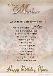 mom birthday wishes lines nice wishes