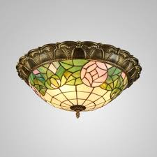 tiffany vintage domed flush ceiling