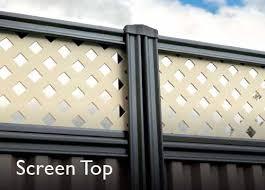 Good Neighbour Smartspan 1800mm High Fence Panel Sheet Beige Post Track Beige