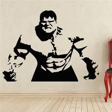 2018 Neymar Comics Art Hulk Wall Decal Superhero Sticker Home Decoration Any Room Waterproof Removable Vinyl Stickers T233 Leather Bag