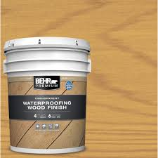 Behr Premium 5 Gal Clear Transparent Waterproofing Exterior Wood Finish 50005 The Home Depot