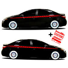 Youngfly 2pcs Car Rear View Mirror Stickers Decor Diy Car Body Sticker Side Decal Stripe Decals Suv Vinyl Graphic Red Bumper Stickers Decals Magnets