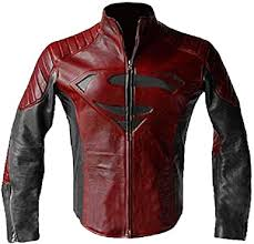 smallville red black leather jacket