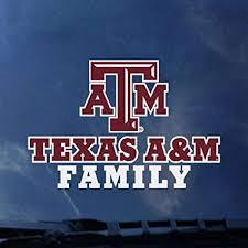 Amazon Com Cdi Texas A M Aggies Transfer Decal Family Sports Outdoors