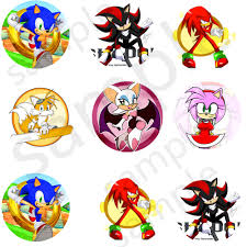 Sonic Sticker Tails Shadow Labels Fiesta Envoltorios Fiesta De