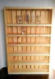 attractive shot glass display shelves