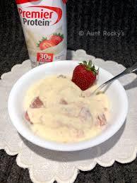 strawberries cream protein pudding