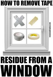 remove tape residue from glass