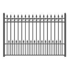 Aleko Iron Wrought Yard Garden Privacy Fence Panel 8 X5 Black London Style For Sale Online Ebay