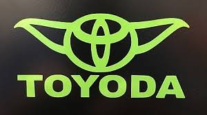 Cmi277 Toyoda Star Wars Yoda Vinyl Car Decal Sticker Lime Green 5 Toyota