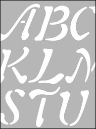 printable stencils for alphabet letters