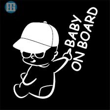 China Baby Yoda On Board Stickers Funny Die Cut Decal Laptop Bumper Window Truck Car Stickers Decal China Baby On Board Sicker Custom Baby On Board Car Sticker