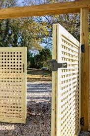 How To Build A Window Pane Lattice Privacy Fence And Gate Pretty Handy Girl
