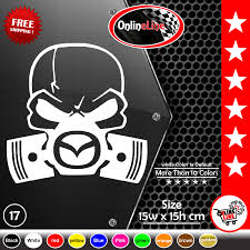Ebay Mazda Skull Piston Gas Mask Sticker Window Vinyl Decal Sport Speed 3 6 Mpv Rx 7 Skull Decal Car Decals Vinyl Vinyl Decals
