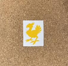 Chocobo Vinyl Decal Final Fantasy Laptop Decal Car Decal Etsy
