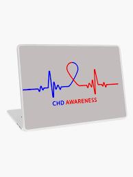 Chd Awareness Ribbon Vinyl Wall Decal Or Car Sticker