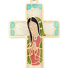 14ky stained glass religious cross