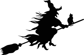 Newclew Wicked Witch Flying With Cat Halloween Beautiful Decal Notebook Car Laptop Art Vinyl Bumper Sticker Decal Wantitall