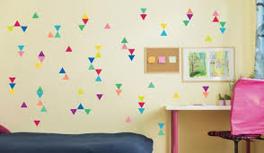 Confetti Triangle Wall Decals Reusable Fabric Shape Stickers Etsy