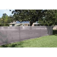 Unbranded Grey 68 In X 50 Ft Privacy Fence Screen Mesh Fabric With Integrated Button Hole Tkm140747e The Home Depot