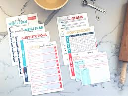 diy printable recipe binder kit free