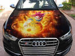 Vinyl Car Hood Wrap Graphics Decal Anime Dragon Ball Super Saiyan God Sticker Ebay