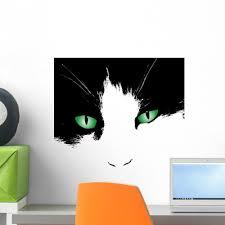 Green Eyes Wall Decal Wallmonkeys Com