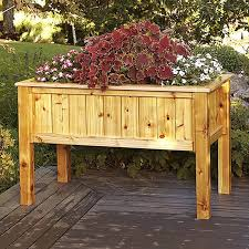 raised planter box woodworking plan