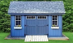storage shed doors large blue storage