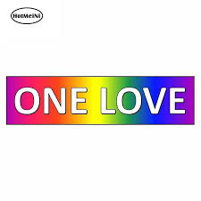 Hotmeini 13cm X 3 4cm For Gay Rights Rainbow Same Sex Marriage Equality Funny Car Stickers Rv Van 3d Diy Fine Decal Graphics Car Stickers Aliexpress