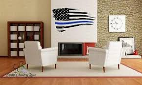 Blue Lives Matter Police Cop American Flag Pride Car Window Wall Decal Sticker Ebay