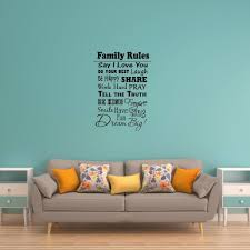 Family Rules Wall Decal Vwaq Com