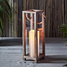 elda wooden battery lantern candle
