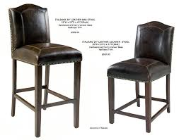 old world leather bar stools