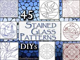 45 simple stained glass patterns