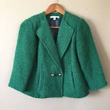 CAbi Ivy Kelly Green Wool Blend Blazer Size 2 | eBay