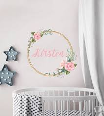 custom name wall decals frame with