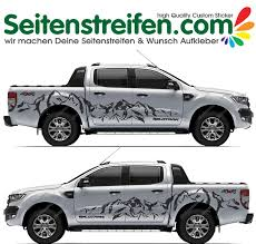 Ford Ranger Xxl Mountain Edititon Forest Mountain Graphics Decals Sticker Kit N U7010