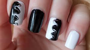 black and white swirl nail art tutorial