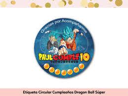 Paquete Fiesta Cumpleanos Dragon Ball Super The Dragonfly Ideas Shop